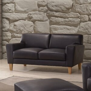 Debusk Leather Loveseat by Mercury Row