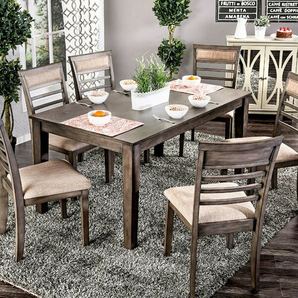Wicker Park Transitional 7 Piece Dining Set by Loon Peak