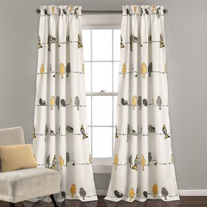 Cohla Animal print Room Darkening Rod Pocket Curtain Panels (Set of 2)