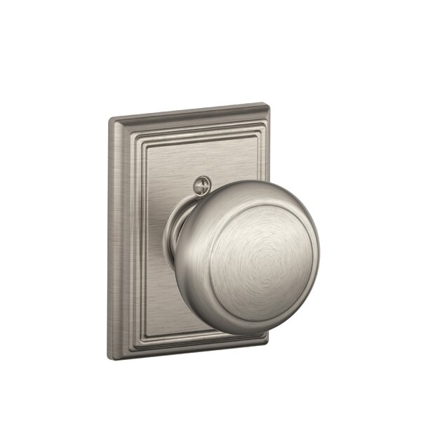 Andover Knob with Addison Trim Non-Turning Lock by
