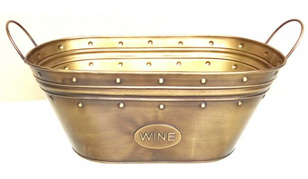 Copenhaver Metal Beverage Tub with Handles by Alcott Hill