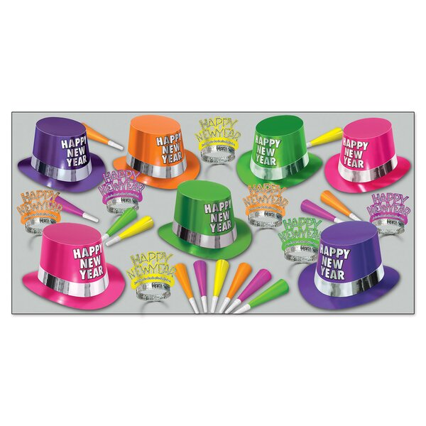 Fluorescent Party Hat Set by The Holiday Aisle