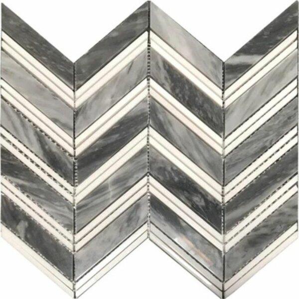 Marble Chevron Mosaic Wall & Floor Tile