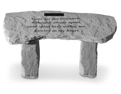 Gone Yet Not Stone Garden Bench by Kay Berry Inc Kay Berry Inc
