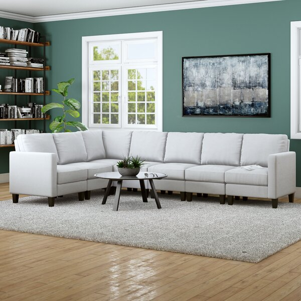 Swick 215'' Reversible Modular Sectional By Brayden Studio