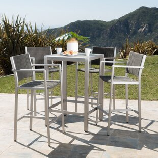 Beau Durbin 5 Piece Bar Height Dining Set