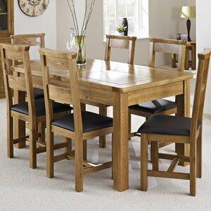 1 Esstisch und 6 Stühle von Hazelwood Home