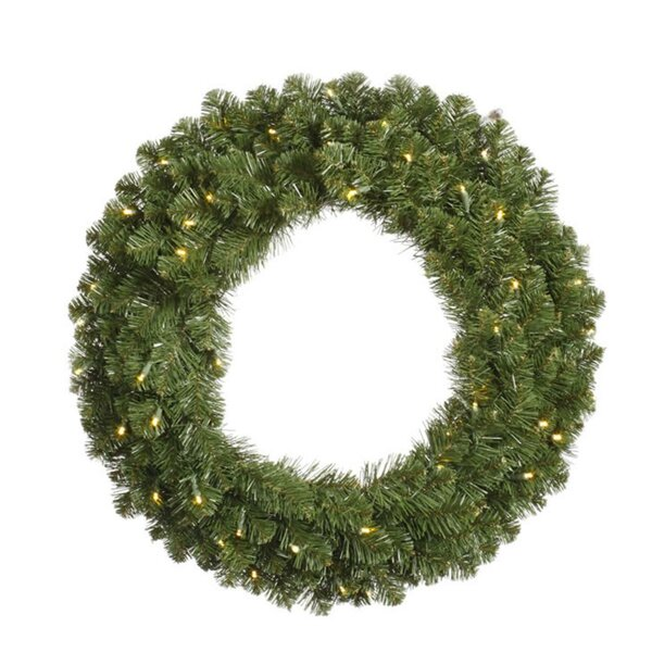Pre-Lit 30 Lighted Artificial Christmas Wreath by The Holiday Aisle