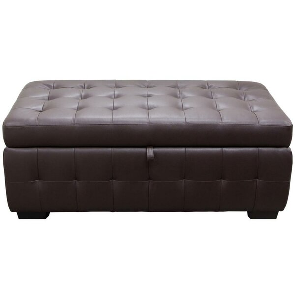 Esmund Tufted Faux Leather Storage Bench by Latitude Run