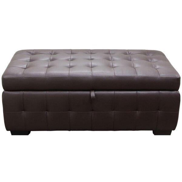 Esmund Tufted Faux Leather Storage Bench by Latitude Run