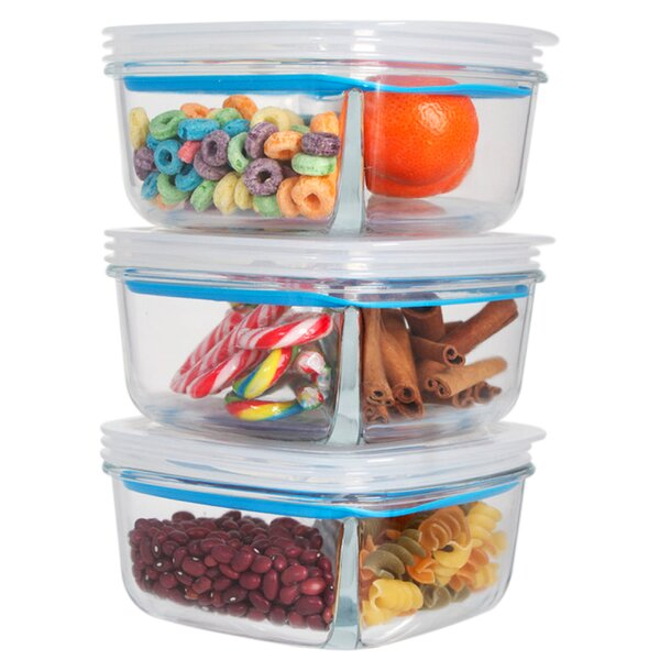 Gracie Meal Prep Food Storage Container (Set of 3) by Rebrilliant