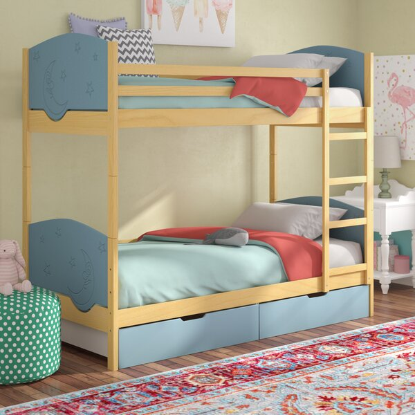 Foye Bunk Toddler Bed with Drawers by Mack & Milo