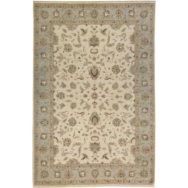 One-of-a-Kind Cornwall Handwoven 12' x 18' Wool Beige Area Rug