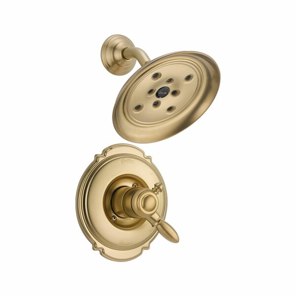 Victorian 17 Series Shower Faucet Trim with Lever Handles and H2okinetic Technology by Delta Delta