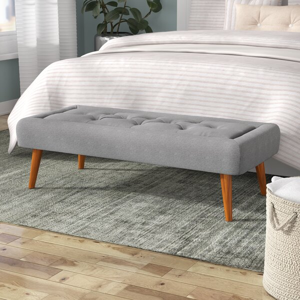 Aurelius Upholstered Bench by Langley Street