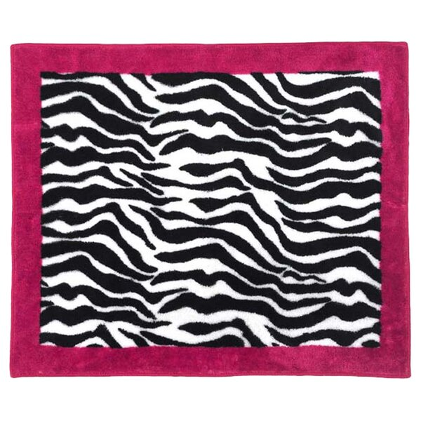 Zebra Floor Pink Area Rug by Sweet Jojo Designs
