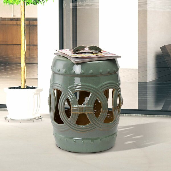 Teegan Ceramic Knotted Rings Garden Stool by August Grove