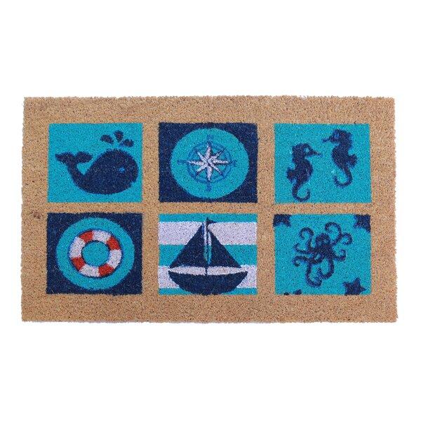 Picardy Sea Life Doormat by Breakwater Bay