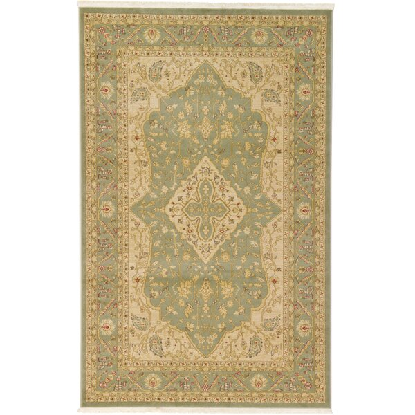 Fonciere Light Green Area Rug by World Menagerie