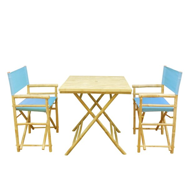 Petra Bamboo 3 Piece Bistro Set by Bay Isle Home