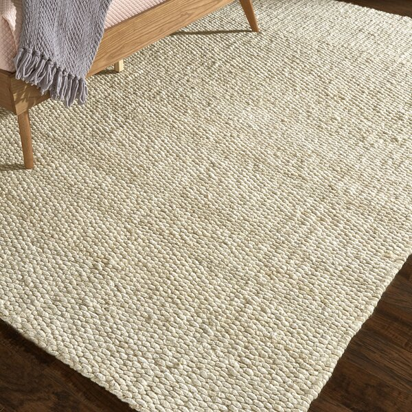 Beckett Hand-Woven Bleached Area Rug by Beachcrest Home