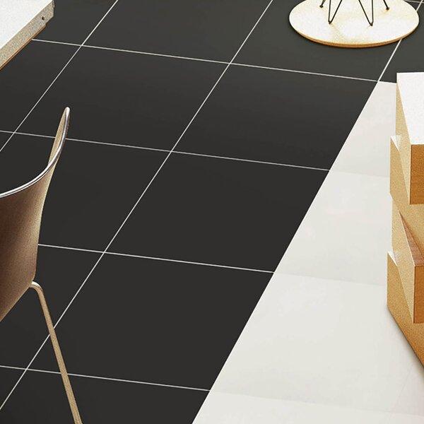 Classic 13 x 13 Porcelain Field Tile in Black by EliteTile
