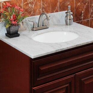 Comparison Cara White 25 Single Bathroom Vanity Top ByLessCare
