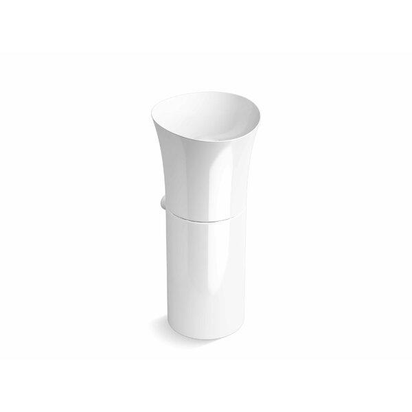 Veil® Pedestal Lavatory No Overflow by Kohler