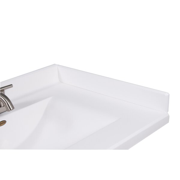 22 X 3 Right Hand Side Splash for Wave Style Bathroom Vanity Top in Solid White by Imperial