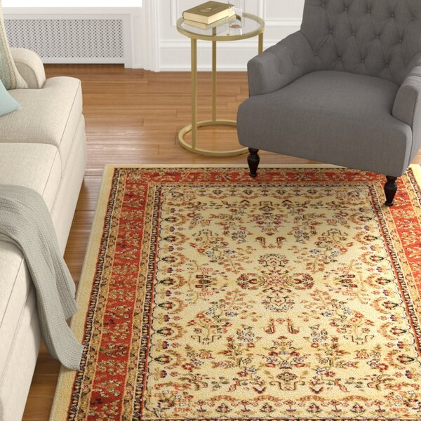 Barton Rust/Ivory Area Rug by Astoria Grand