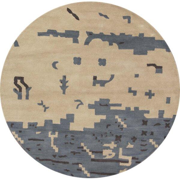 Jaylyn Gabbeh Oriental Hand-Tufted Wool Beige/Ivory Area Rug by Latitude Run