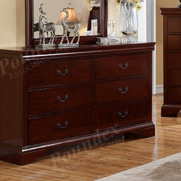 Anouk 6 Drawer Double Dresser by Charlton Home