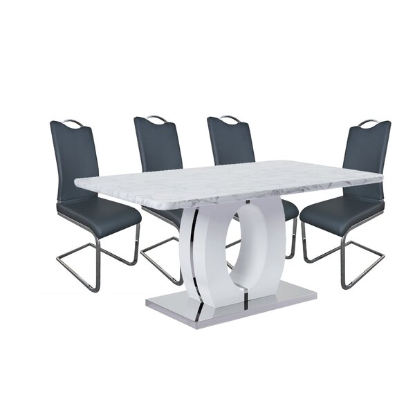 Figueroa 5 Piece Dining Set by Orren Ellis