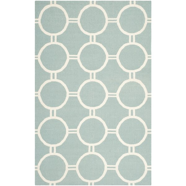 Dhurries Light Blue/Ivory Area Rug by Safavieh