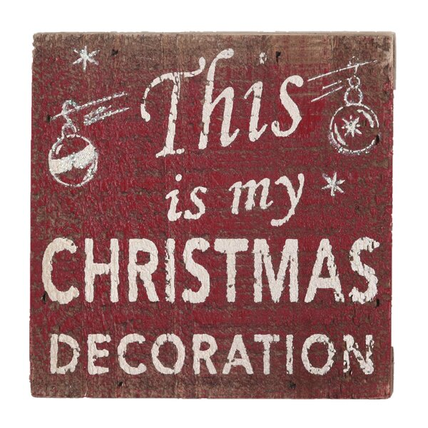 This Is My Christmas Decoration Textual Art Plaque