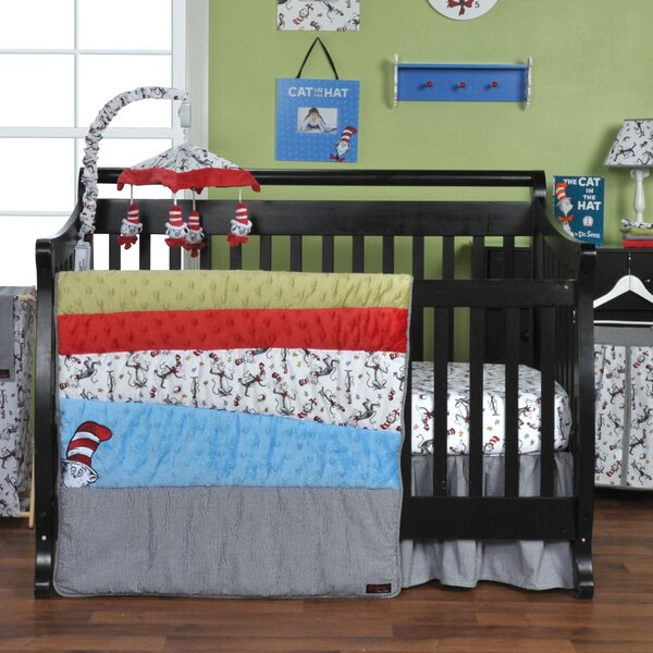 Dr. Seuss Cat in the Hat 3 Piece Crib Bedding Set by Trend Lab