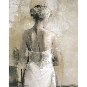 'Evening Attire II Ivory' Print on Wrapped Canvas by Rosdorf Park