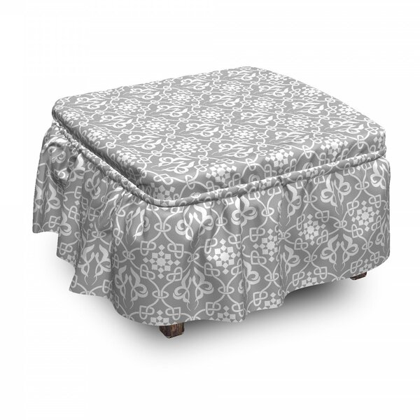 Cheap Price Box Cushion Ottoman Slipcover