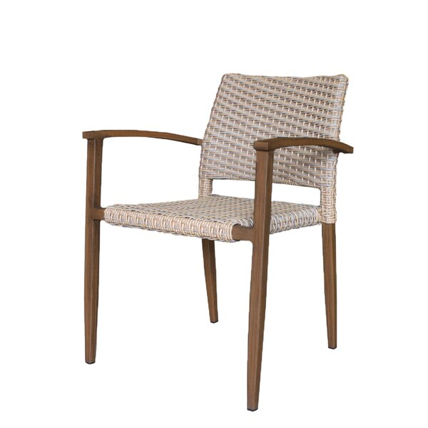 Brinwood Patio Dining Chair with Cushion by Bungalow Rose