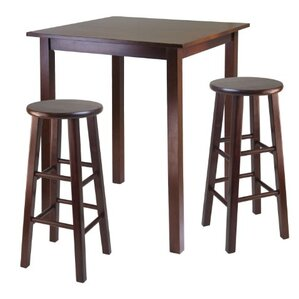Parkland 3 Piece Pub Table Set by Luxury Home