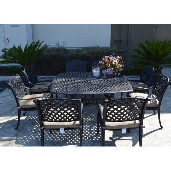 Middleburgh Murray 9 Piece Dining Set with Cushions by Darby Home Co