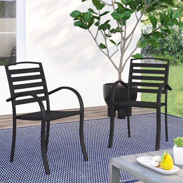 Galicia Modern Contemporary Stacking Patio Dining Chair By Wrought Studio by Wrought Studio Great price