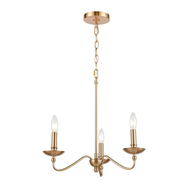 Neill 3 - Light Candle Style Geometric Chandelier by Canora Grey Canora Grey