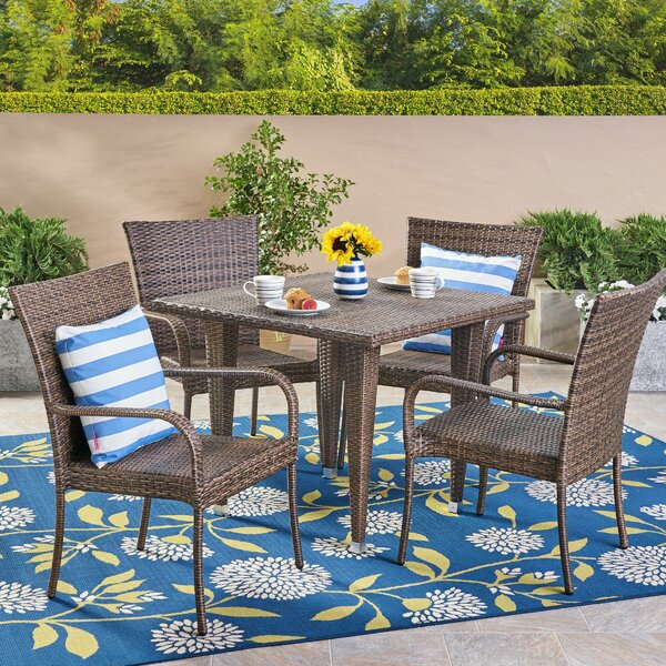 Efird 5 Piece Dining Set by Highland Dunes