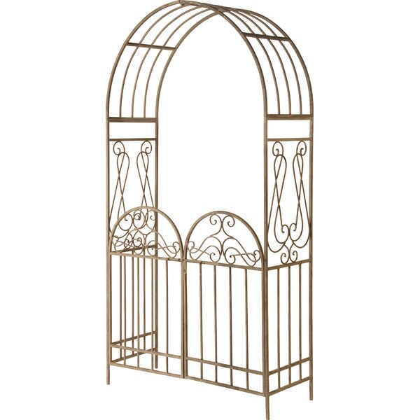 Garden Accent Metal Decoration Steel Arbor by National Tree Co.