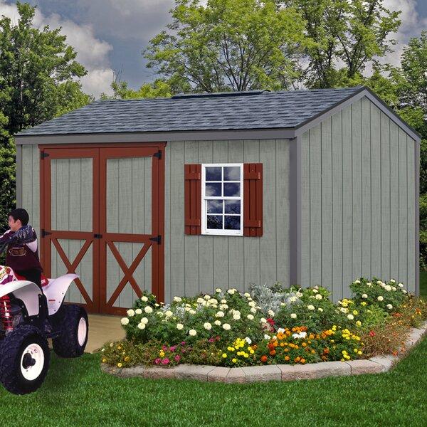 Cypress 10 ft. W x 12 ft. D Solid Wood Storage Shed by Best Barns