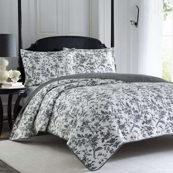 Amberley Reversible Quilt Set by Laura Ashley Home by Laura Ashley