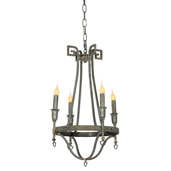 Bailey 4-Light Candle Style Wagon Wheel Chandelier by ellahome ellahome