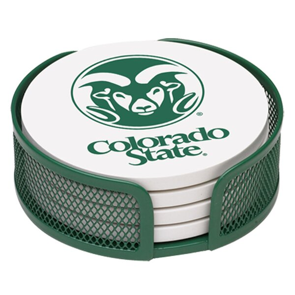 5 Piece Colorado State University Collegiate Coaster Gift Set by Thirstystone
