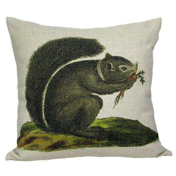 Squirrel Throw Pillow by Golden Hill Studio